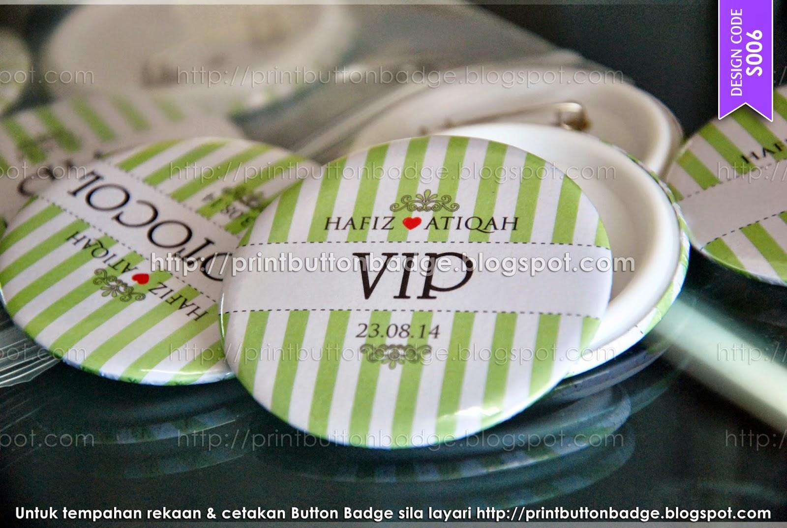 Button badge Kahwin