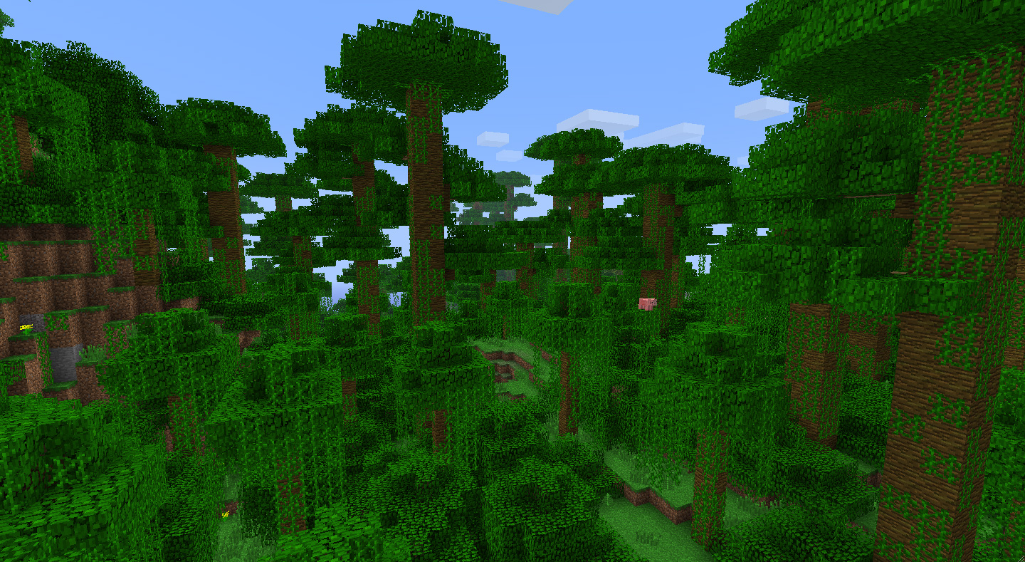 how to build rainforest in minecraft