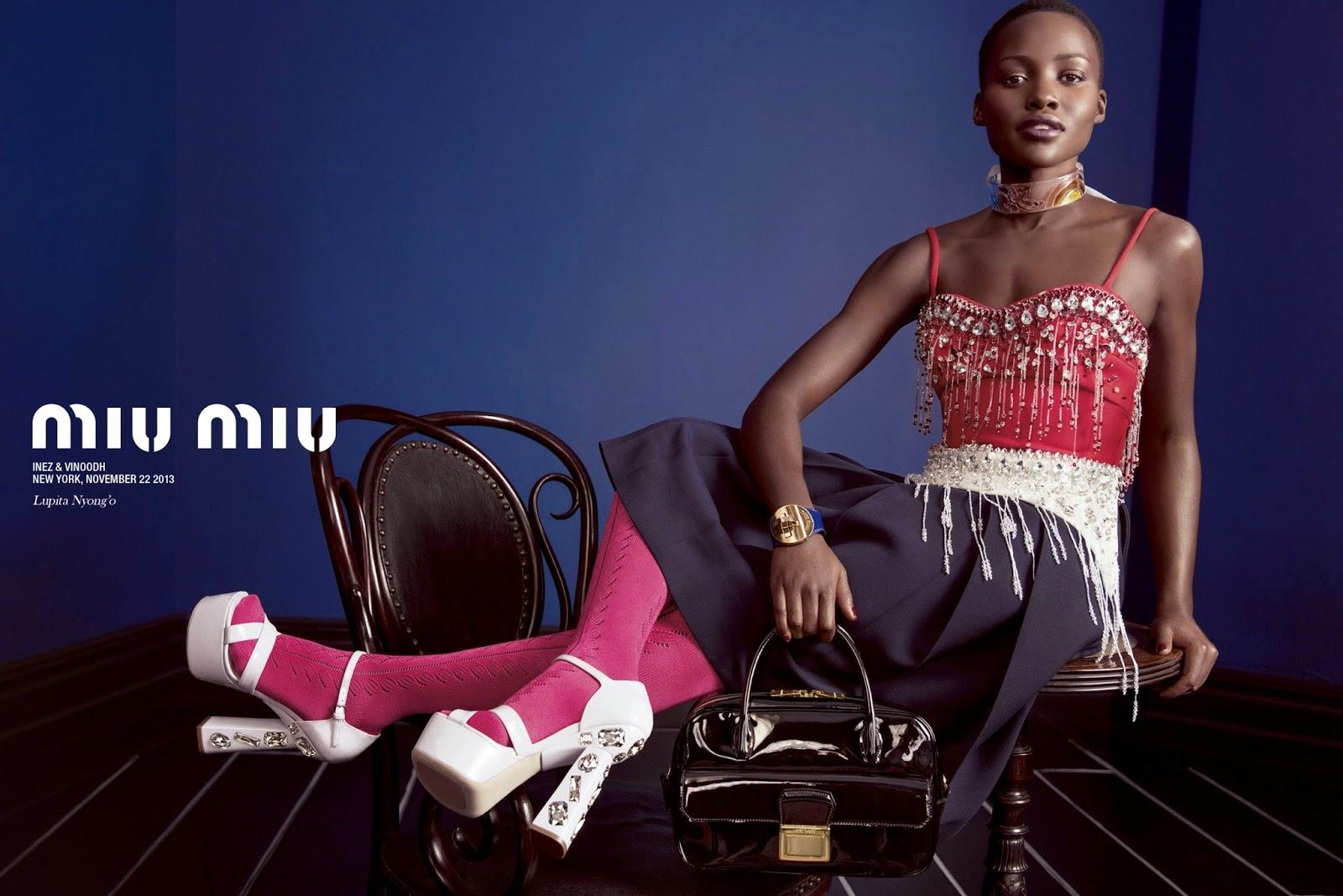 Miu Miu campaign, Lupita Nyong