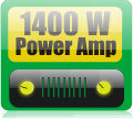 1400W audio power amplifier