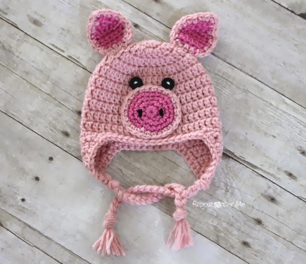 Crochet Pig Hat Pattern Repeat Crafter Me