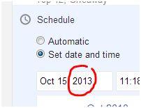 posting date