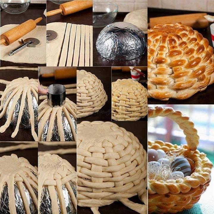 Braided Bread Dough Basket