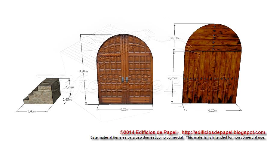 Texturas incluidas en esta entrega de la Muralla Medieval