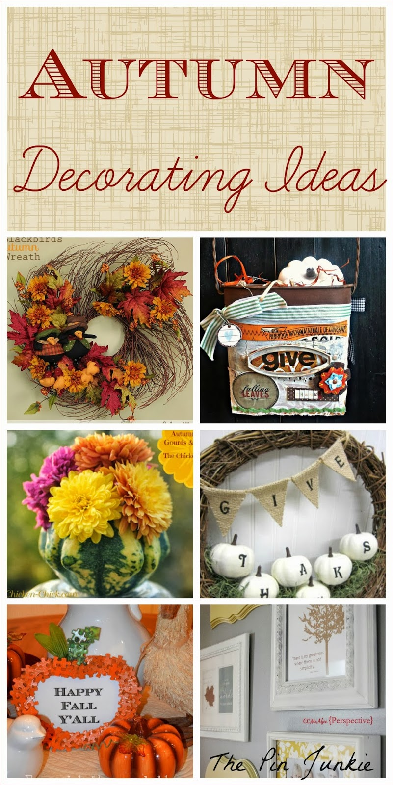 Fall decorating ideas for Autumn party decoration ideas
