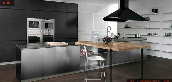 Durable Modern Stainless Steel Kitchen Designs