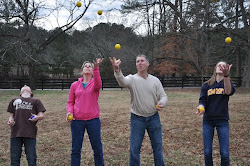Family Learns Juggling