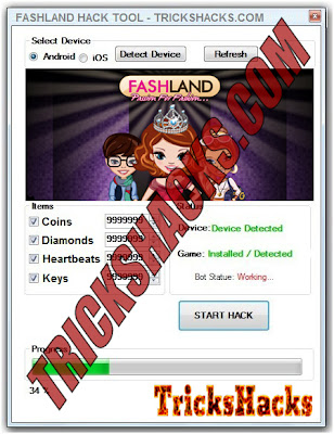 FASHLAND HACK CHEATS TRAINER TOOL (FACEBOOK) WITHOUT SURVEY