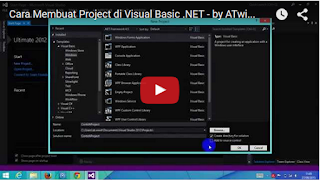 Cara Membuat Project di Visual Basic .NET