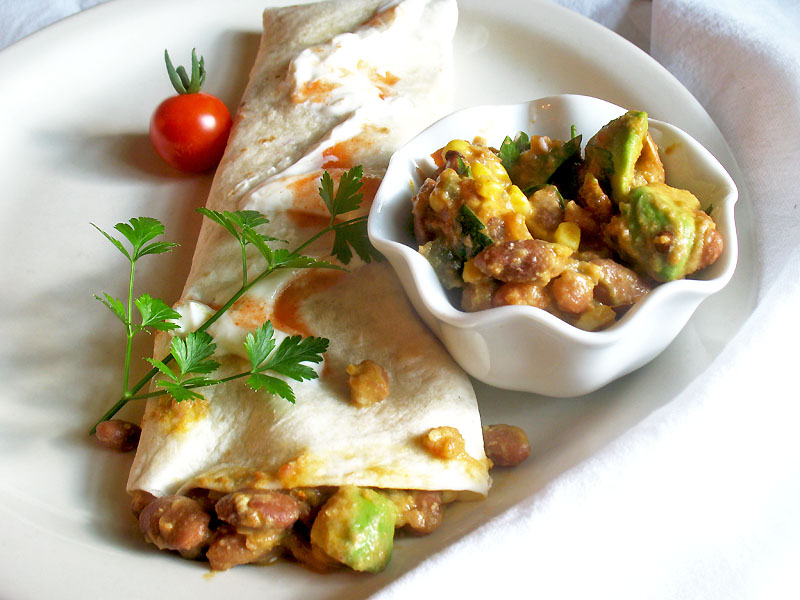 Pinto Bean and Avocado Burritos | Lisa's Kitchen | Vegetarian Recipes ...