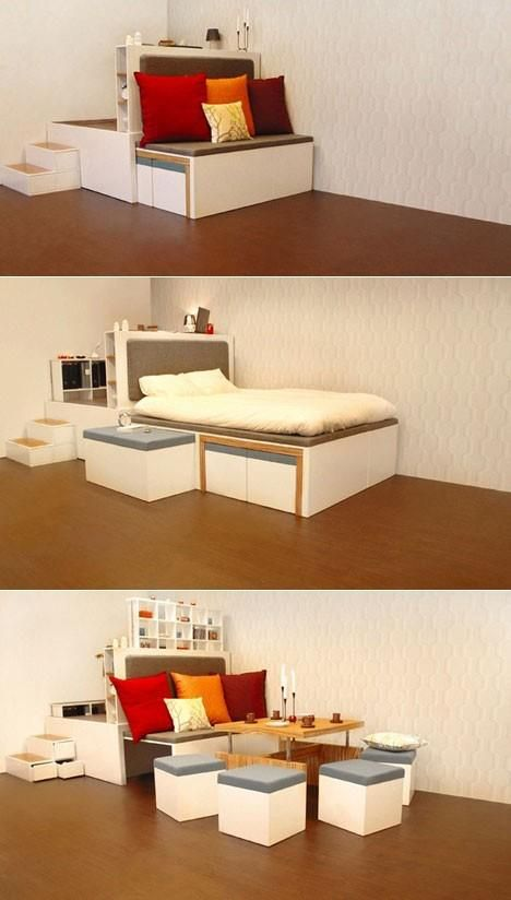 20 creative space saving ideas for home the grey home for Home space saving ideas