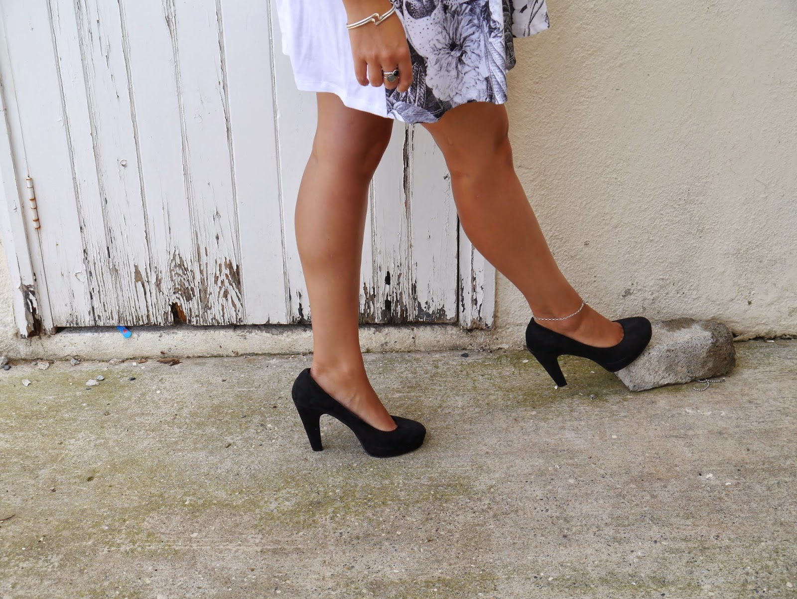 ASOS black and white swing dress