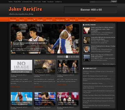 Johny Darkfire blogger template 25+ Best Free Magazine Blogger Templates for 2013 Download