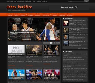 Johny Darkfire blogger template 25+ Best Free Magazine Blogger Templates for 2013 Download
