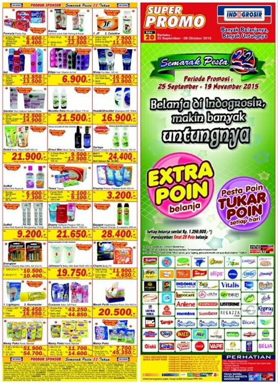 Katalog Promo IndoGrosir Terbaru Periode 25 - 08 Oktober 2015