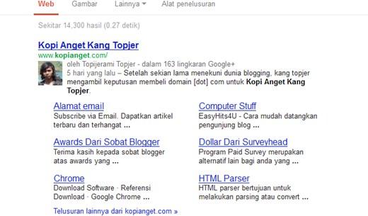 site link google
