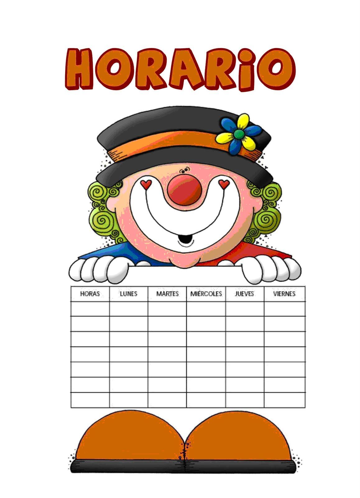 Horario De Clases Para Nino