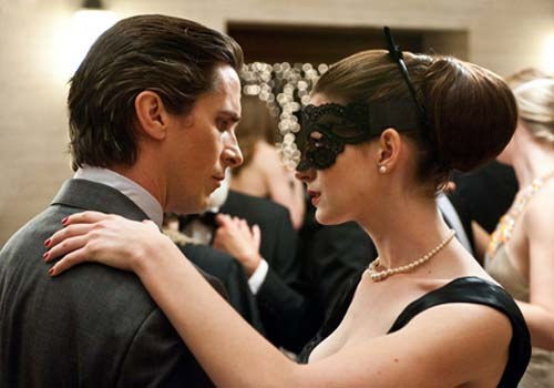 Christian Bale and Anne Hathaway in The Dark Knight Rises Movie
