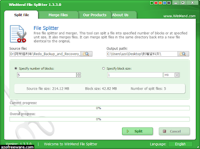 WinMend File Splitter