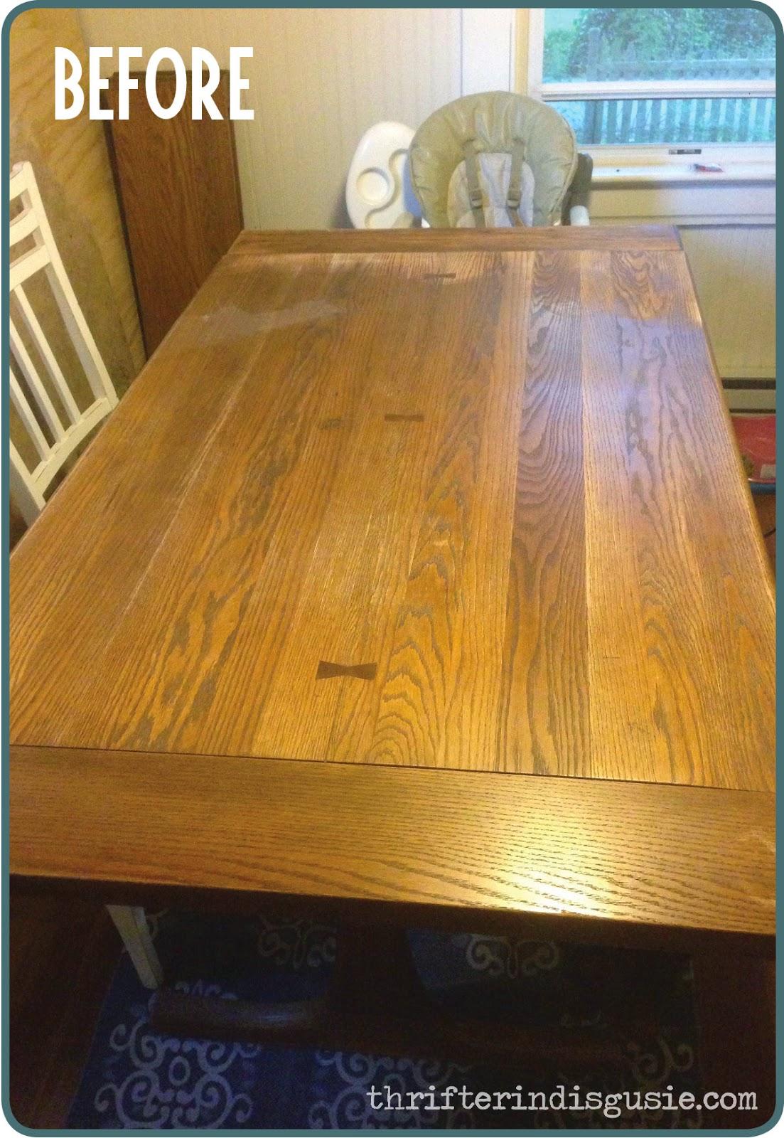 DIY Painting craigslist table
