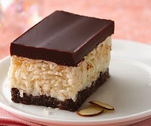 Barras de Chocolate con Coco