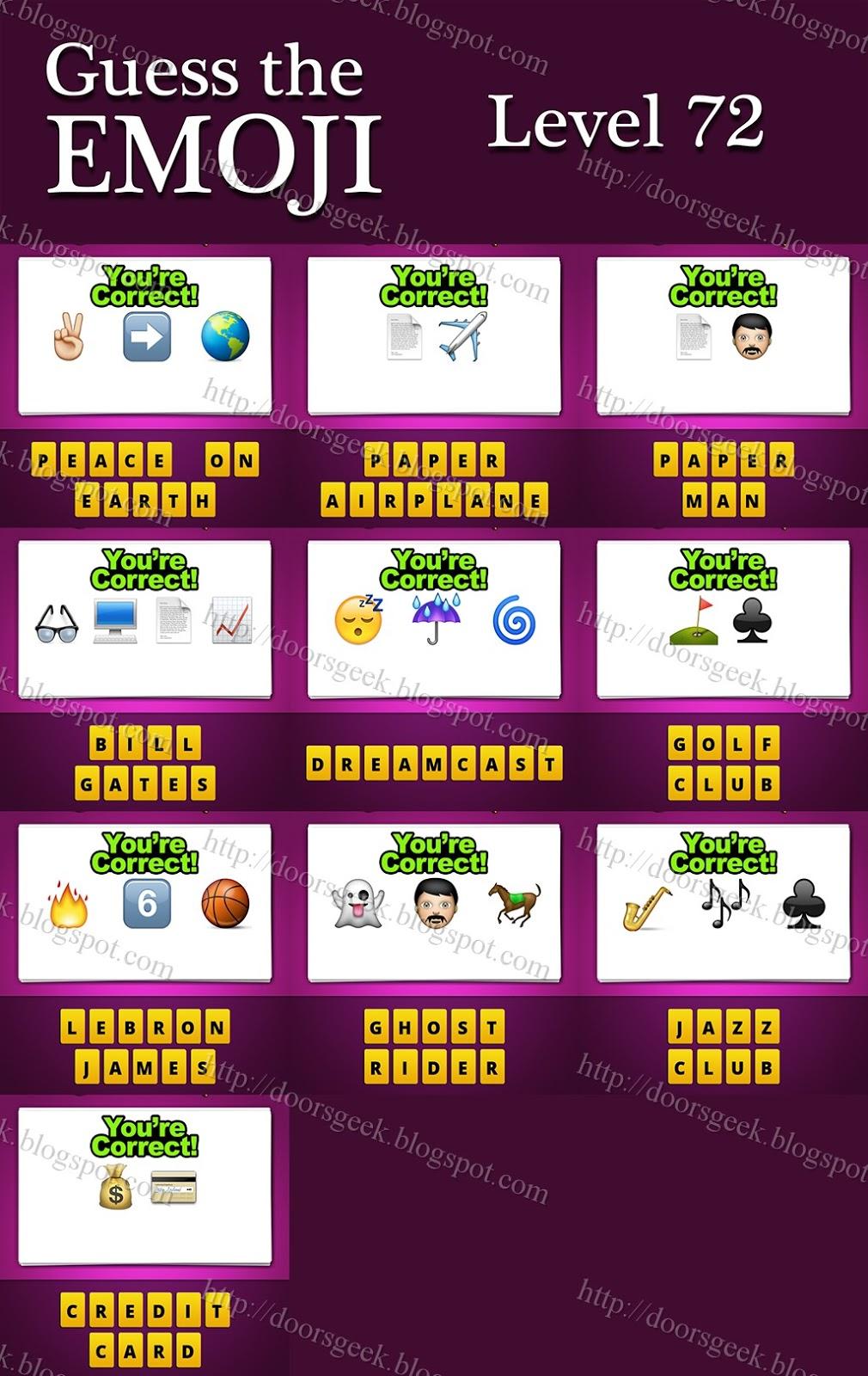 Guess The Emoji Level 72 Guess The Emoji  Level 72