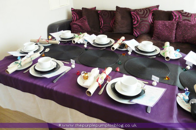 Christmas Lunch Table Decoration Ideas : My christmas lunch table decor ? the purple pumpkin