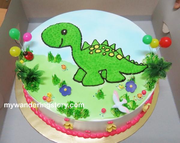 Happy Birthday Holly Dinosaur Cake