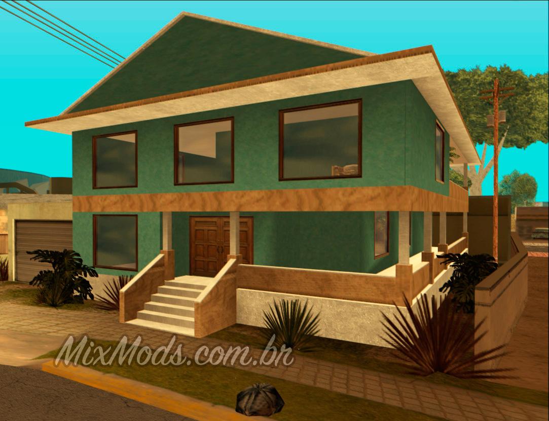 Nova casa do cj estilo gta v corrigida mixmods for Casa moderna gta sa