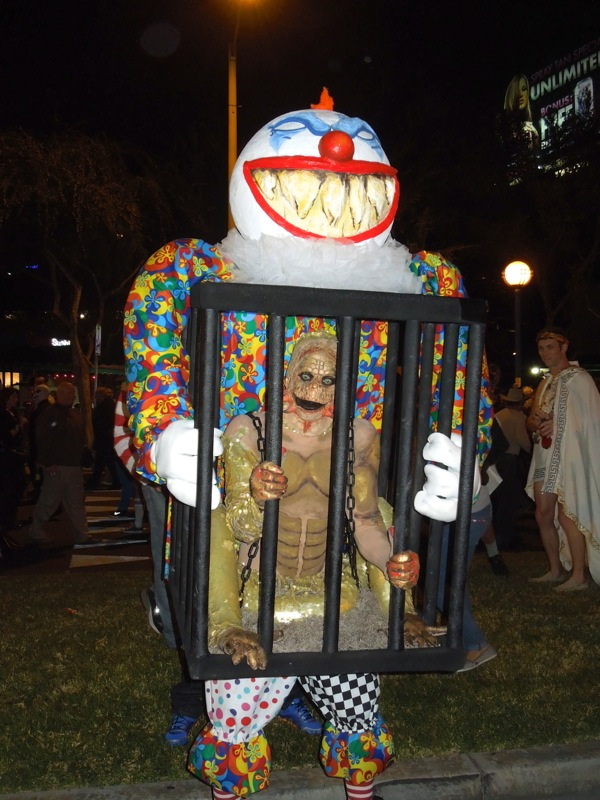 West Hollywood Halloween Carnaval caged monster costume