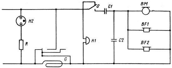 Принципиальная схема телефонного аппарата ТАК-Б