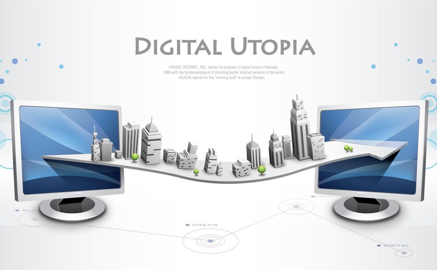 ネットワークの拡がりを描いた背景 business network design background  イラスト素材