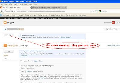 buat blog pertama anda