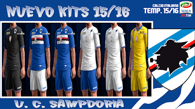 PES 2013 U.S. Sampdoria 2016 Kits by KP