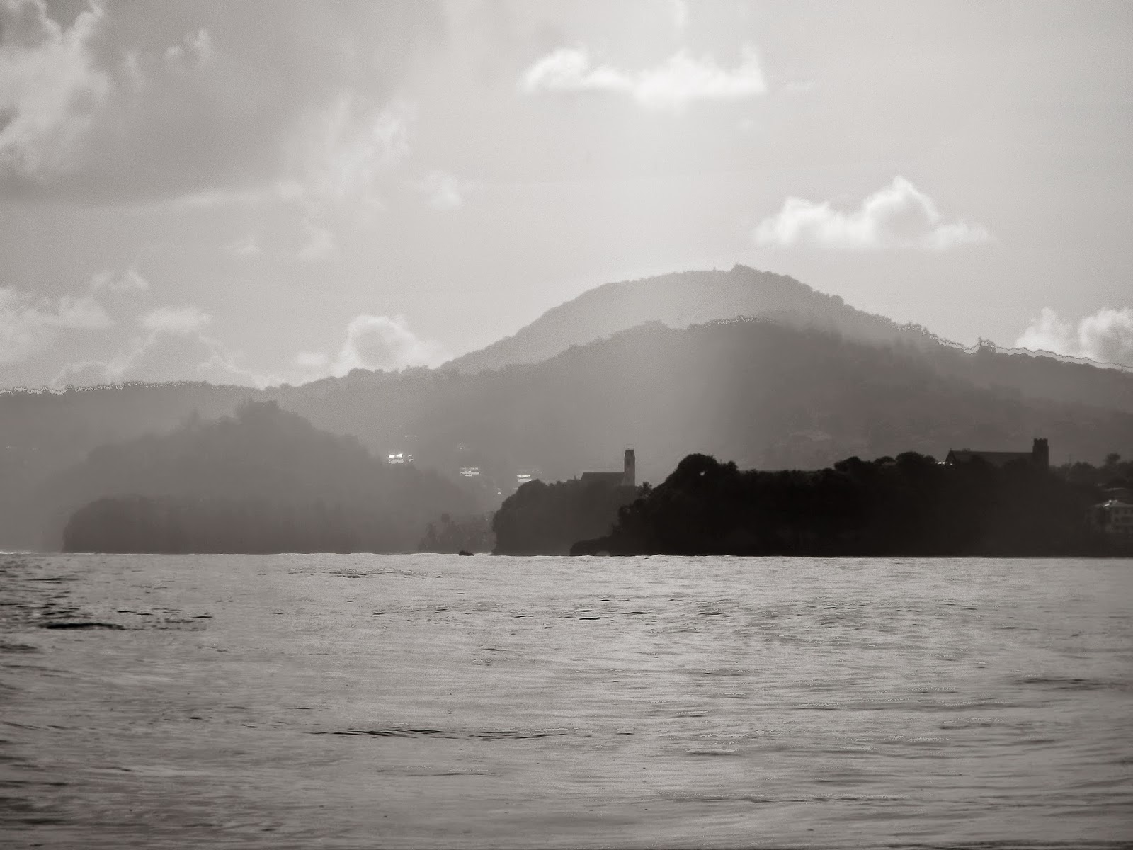 Sauteurs, Grenada on a cloudy day