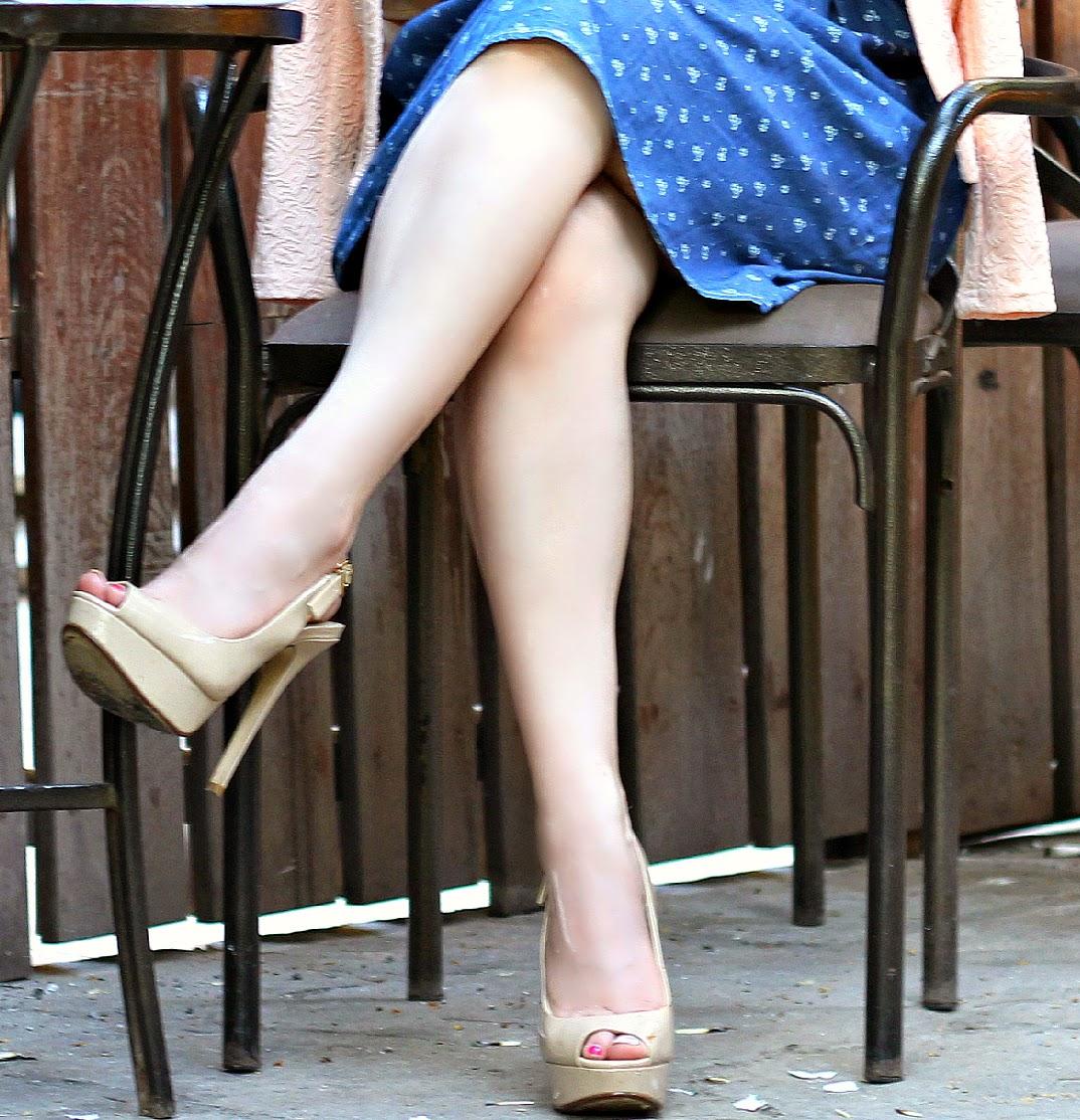 Aldo Nude Peep-toe heels