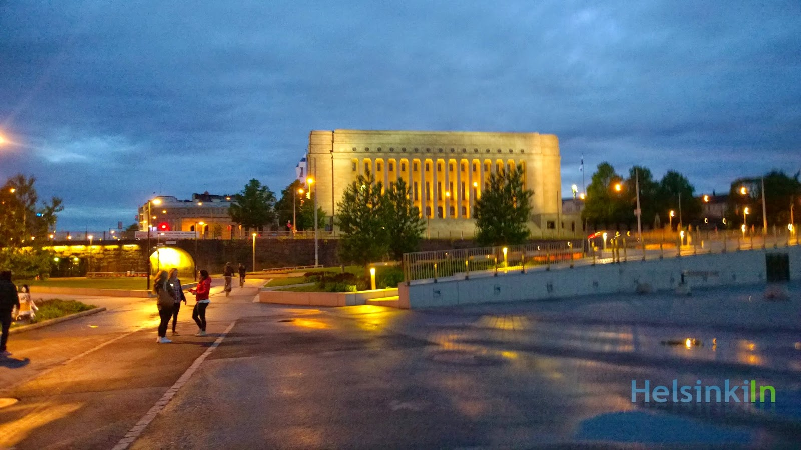 Finnish Parliament in a June night