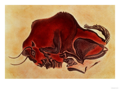 rock-painting-of-a-bison-late-magdalenia
