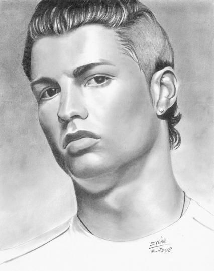 Dibujos de cristiano ronaldo faciles  Imagui
