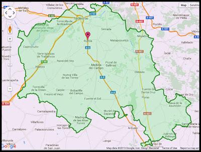 ruta vino rueda mapa