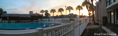 Panoramic view of pool and sunset. /></a></div> <div style=