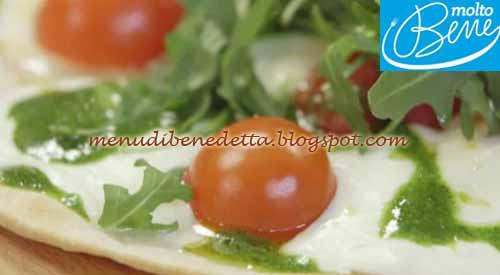 Piada pizza filante ricetta Parodi per Molto Bene su Real Time