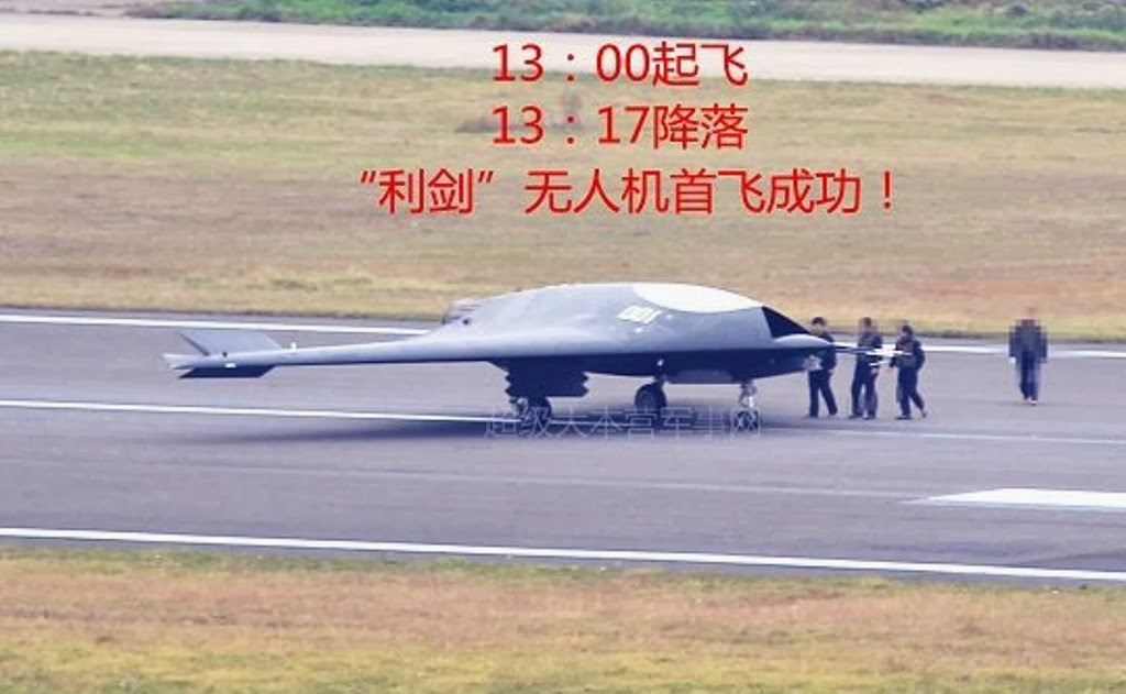 "Shark Tank Drone >> Maiden Flight of Chinese Lijian ""Sharp Sword"" Stealth UCAV 