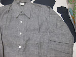30's DEAD STOCK  W.P.A.  GRAY CHAMBRAY SHIRTS