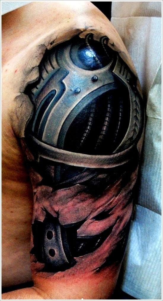 Cool Bio-mechanical Tattoo designs: 3d Biomechanical Tattoo Ideas For Men On Sleeve ~ Tattoo Design Inspiration