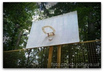 Крышка унитаза вместо баскетбольной корзины