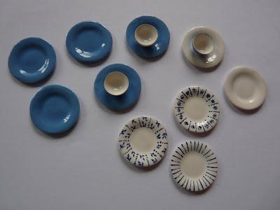 Assiettes,Miniature,Porcelaine,Christine VOIRIN,SIMP