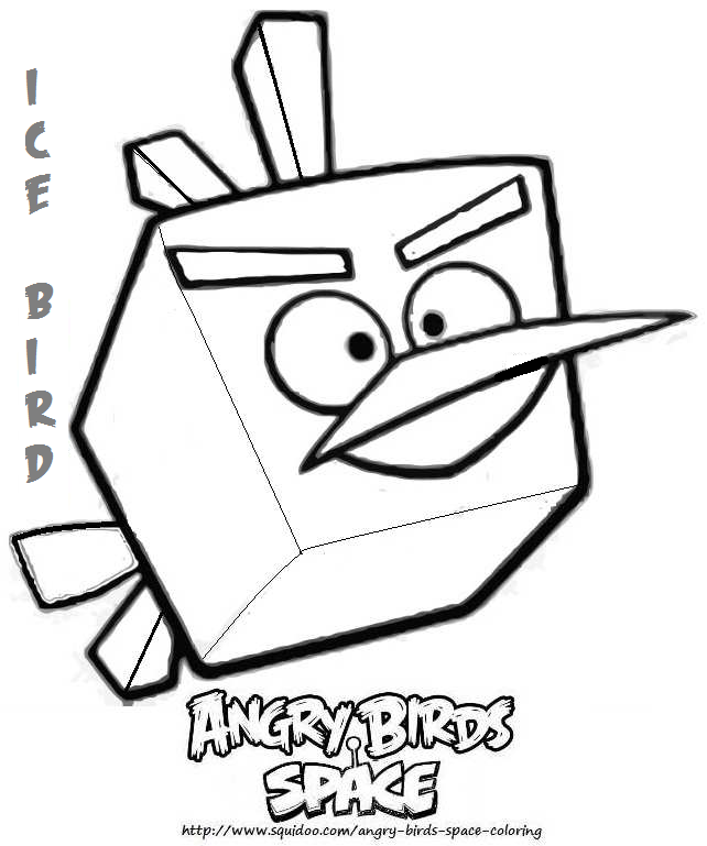 Angry Bird Coloring Page Ice Red Space