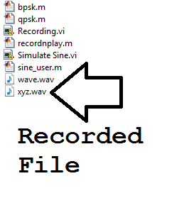 Recorded File: As seen on Explorer for the current working directory:Sound Record, Save & Playback in MATLAB