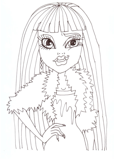Free Printable Baby Monster High Coloring Pages